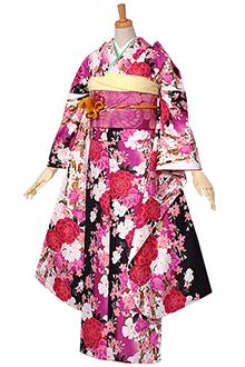 R642 黒 牡丹と桜のブーケ(R1588)