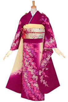 R659 紫 春陽枝垂れ桜☆(絹)(宅)