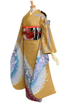 R666 【訳あり】芥子 桜と梅花びらブルーぼかし☆(宅)
