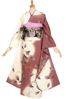 R667 【訳あり】ピンク 和さくら☆(絹)(宅)
