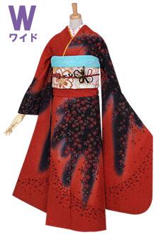R807 赤 紅枝垂桜☆(絹)(w)