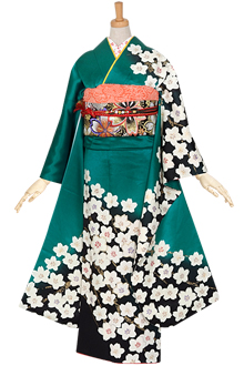R837 グリーン 常盤の桜☆(絹)(宅)