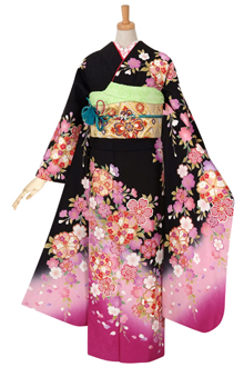 R872 【訳あり】黒 枝垂桜(絹)(R1896)