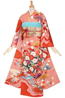 R880 【訳あり】ピンク 四季庭園☆(絹)