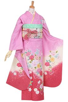 R894 ピンク ハート牡丹☆(絹)(宅)