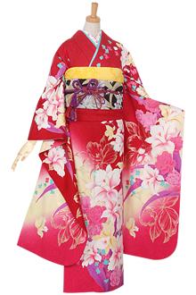 R937 【訳あり】赤 薔薇とカトレア☆(絹)