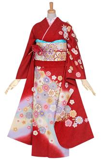 R950 赤 桜にねじり梅☆(絹)(宅)