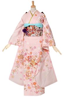R959 ピンク 桜散らし花てまり☆(絹)