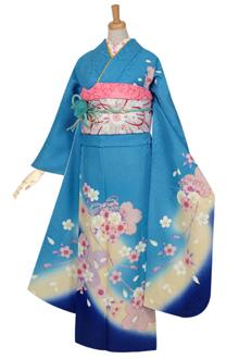 R967 【訳あり】水色 桜結び☆(R968)(絹)