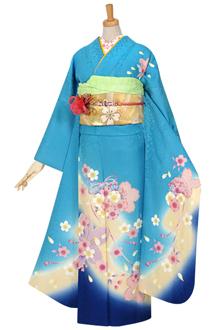 R968 【訳あり】水色 桜結び(絹)(宅)