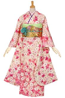R983 白 桜菊づくし☆(絹)
