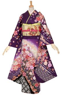 R994 【訳あり】紫 疋田八重桜☆(絹)