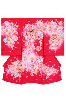 SG011 赤 手毬に菊桜