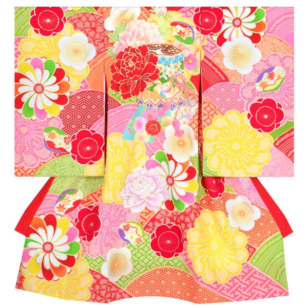 産着(女の子) | SG017 ジャパンスタイル 赤 牡丹に貝桶