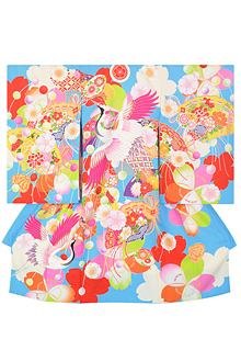 SG020 水色 桜に鶴と檜扇